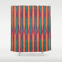 knitting Shower Curtains featuring Knitting Flames by VessDSign