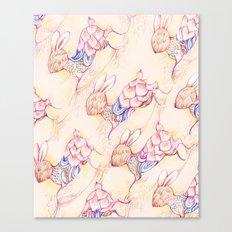 Rabbit pattern Canvas Print