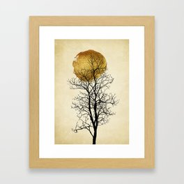 Moonrise - Kubistika by Boris Draschoff Framed Art Print