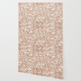 Cavern Clay SW 7701 Thick Hand Drawn Scribble Mosaic Pattern Creamy Off White SW7012 Wallpaper