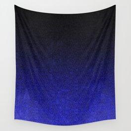 Blue & Black Glitter Gradient Wall Tapestry