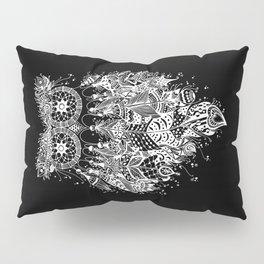 Dream Catcher on Black Pillow Sham