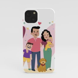 Personalized Illustratiom for Fathers Day iPhone Case