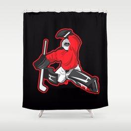 illustration of ice hockey goalie Shower Curtain