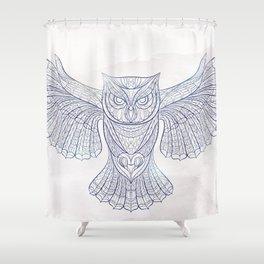 Ethnic Owl Shower Curtain