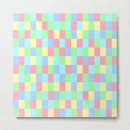 Colours Mozaik Metal Print