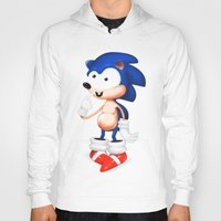 sonic Hoodies featuring SONIC  by i live