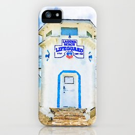 Laguna Beach Lifeguard Stand iPhone Case
