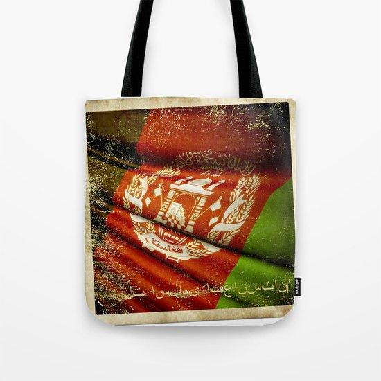 Grunge sticker of Afghanistan flag Tote Bag
