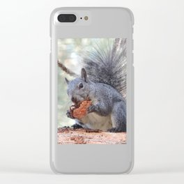 Squirrel Snack Clear iPhone Case
