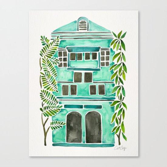 The Grotto – Mint Palette Canvas Print