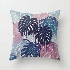 Monstera Melt Throw Pillow