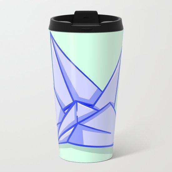 Origami Crane Metal Travel Mug