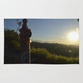 Sunrise over Griffith Park Rug