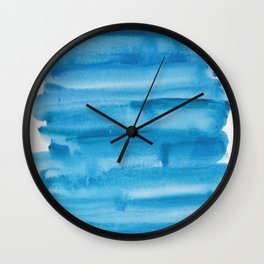 4   |  190408 Blue Abstract Watercolour Wall Clock