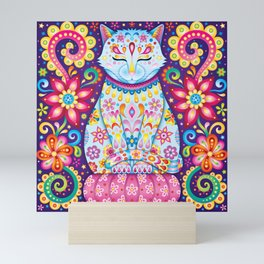 Zen Cat Mini Art Print