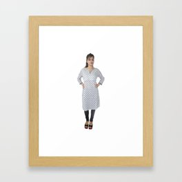 Casual Kurtis for Women Framed Art Print