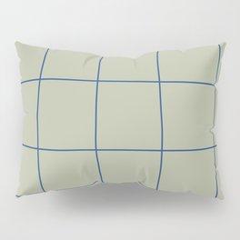 Simple Grid Green Blue Pillow Sham