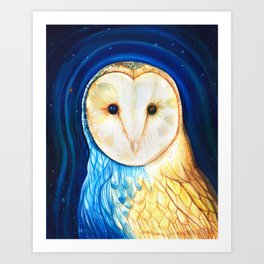 Owl of Arcturus Art Print