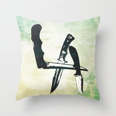 Knives Throw Pillow