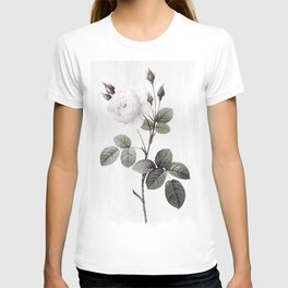 low colored rose pattern T-shirt