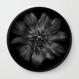 Backyard Flowers In Black And White 22 Flow Version Wall Clock
