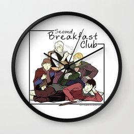 Second Breakfast Club Wall Clock