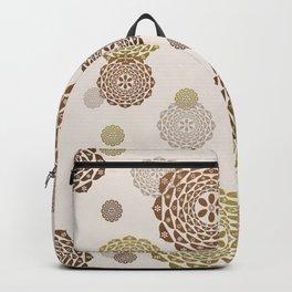 Tones Of Gold & Brown Mandalas Backpack