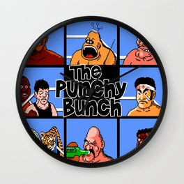 The Punchy Bunch - Punching Their Way Through Life Wall Clock