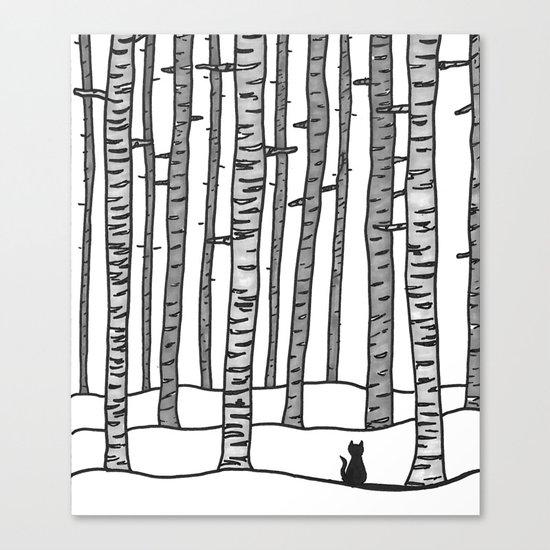 Cat Waits Canvas Print