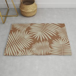 Palm Leaves Delight | brown & light brown | Rug