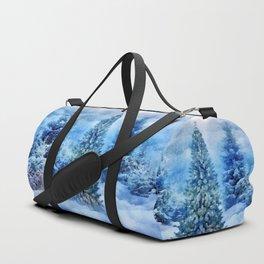 Christmas tree scene Duffle Bag