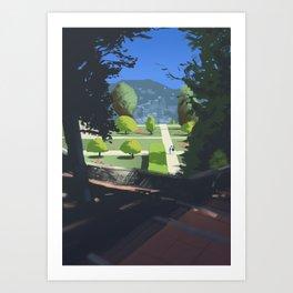 Jardin du Monastère de Cimiez Art Print