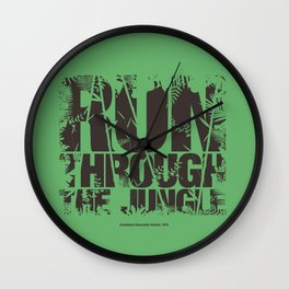 Run Through the Jungle Wall Clock