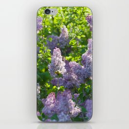 Summer lilac nature pattern iPhone Skin