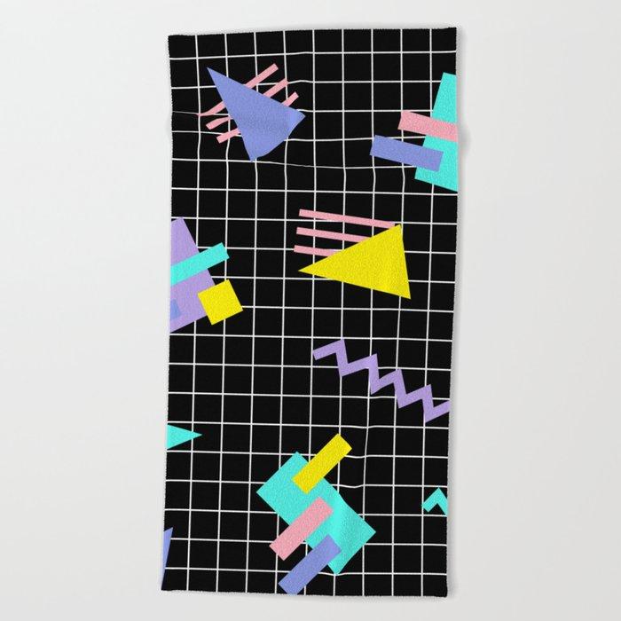 Memphis pattern 7 Beach Towel