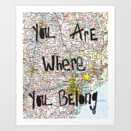 Where You Belong-Houston Art Print