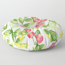 Orchid Jungle Floor Pillow