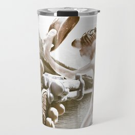 Naked Cowboy (retro color) Travel Mug