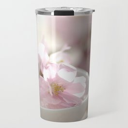 Still life for Bathroom with almond blossoms Travel Mug