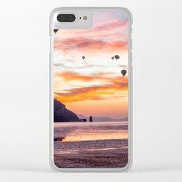 Hot air balloons over Hua Hin beach, Trang, Thailand Clear iPhone Case