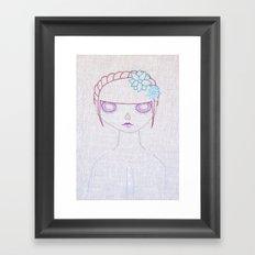 Dia de los Muertos Embroidery Framed Art Print
