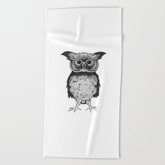 Small Owl Beach Towel