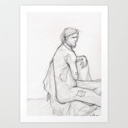 Figure Study (1) Art Print