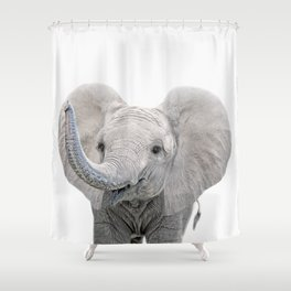 Elephant Calf Art Shower Curtain