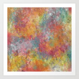 Colored clouds  Art Print