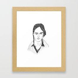 Johnny Depp Pencil drawing Framed Art Print