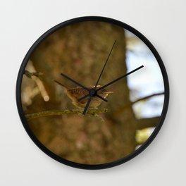 House Wren Wall Clock