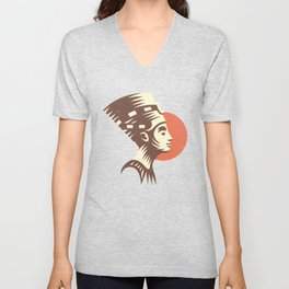 The last active ruler of the Ptolemaic Kingdom of Egypt, Cleopatra. Unisex V-Neck
