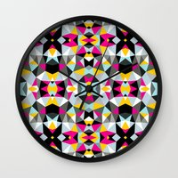 comic book Wall Clocks featuring Comic Book Tribal by Beth Thompson